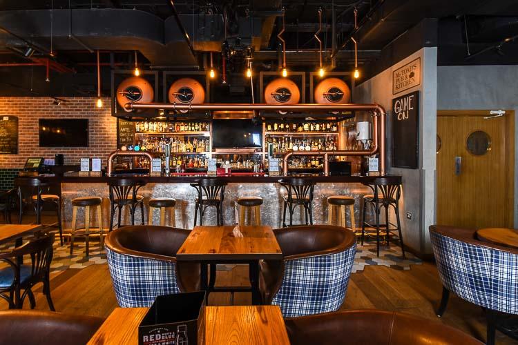 Lounge seating in hotel bar in Premier Inn Dubai Silicon Oasis hotel