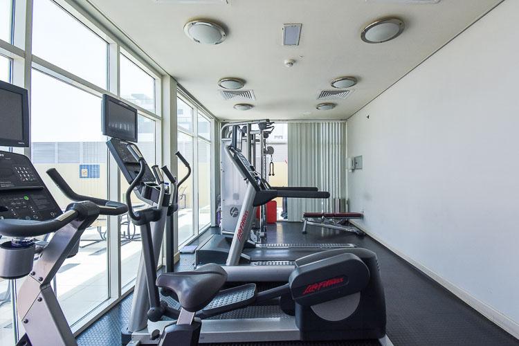 gym with running machine at Premier Inn hotel in Dubai