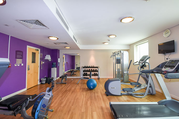Spacious gym with running machine at Premier Inn hotel