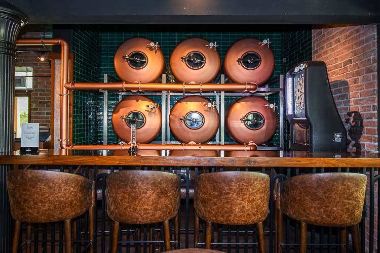 Bar seating at pub in hotel near Expo 2020 Dubai