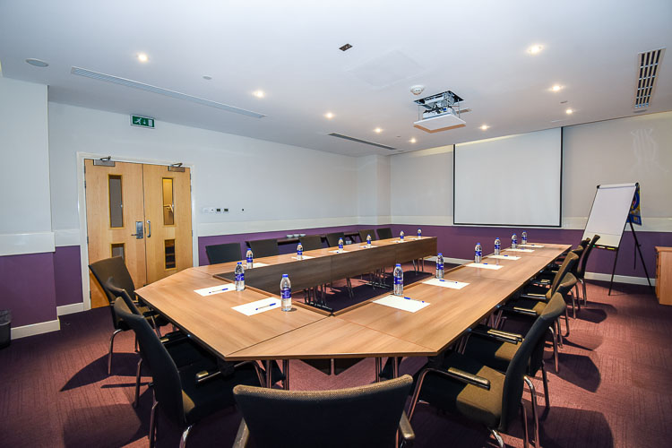Large meetin room for board meeting at Premier Inn Dubai Investments Park hotel