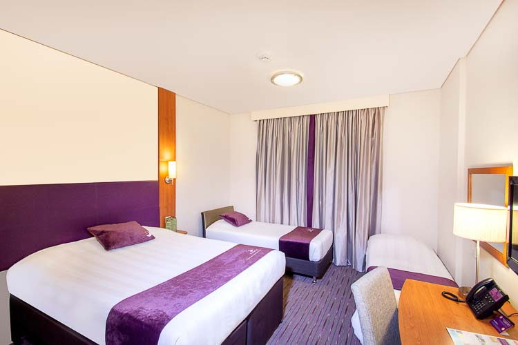 Family room with extra beds in Premier Inn hotels in Abu Dhabi