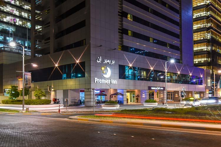 Abu Dhabi Capital Centre hotel at night