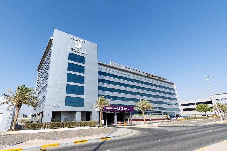 Outside Premier Inn Abu Dhabi International Airport hotel
