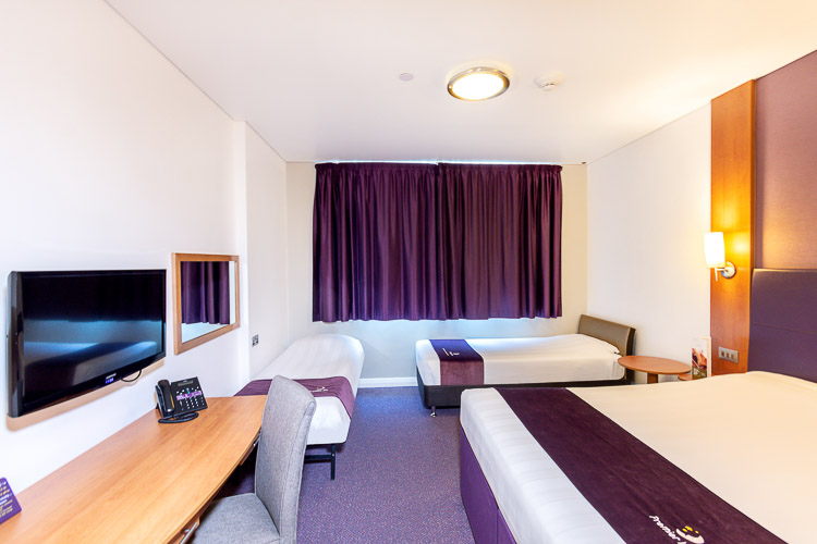 Family room for two adults and two children at Premier Inn Abu Dhabi International Airport hotel
