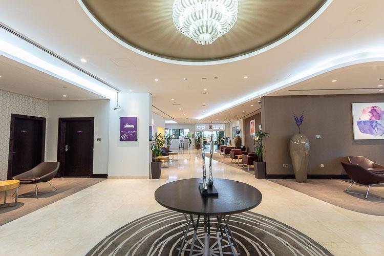 Lobby at Premier Inn Abu Dhabi International Airport hotel