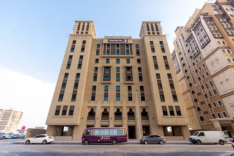 Premier Inn hotel in Dubai Al Jaddaf with shuttle bus to airport