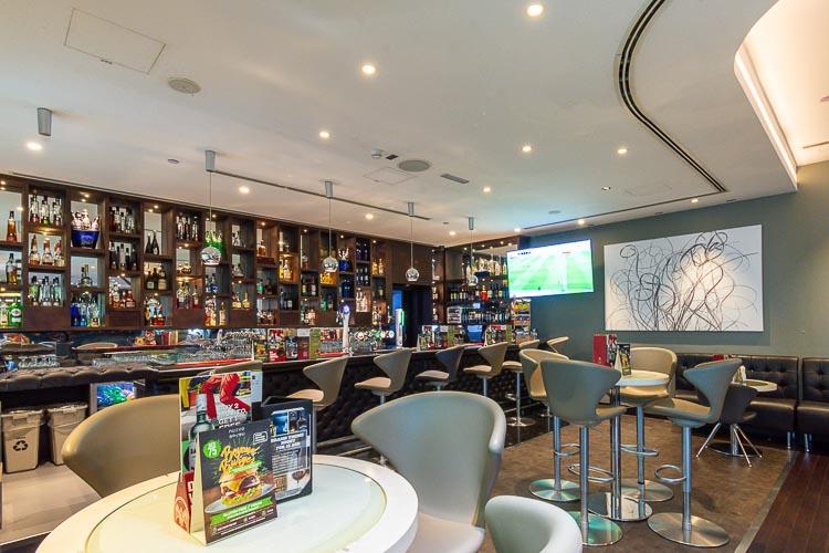 Bar serving alcohol at hotel near Abu Dhabi airport