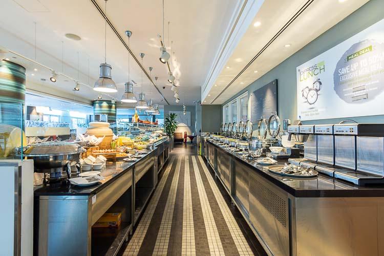 Buffet breakfast served at Nuevo restaurant in Abu Dhabi Airport Hotel