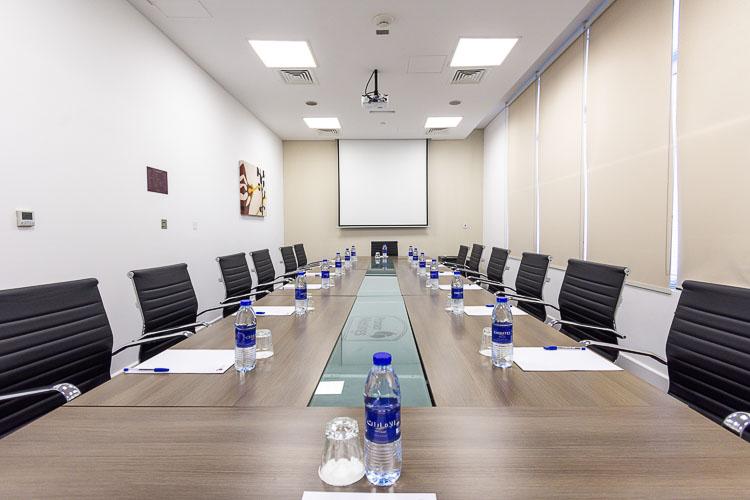 Board room meeting room at Premier Inn Abu Dhabi International Airport hotel