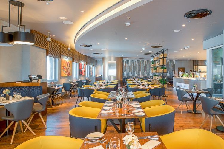 Vibrant restaurant at business hotel in Dubai Al Jaddaf