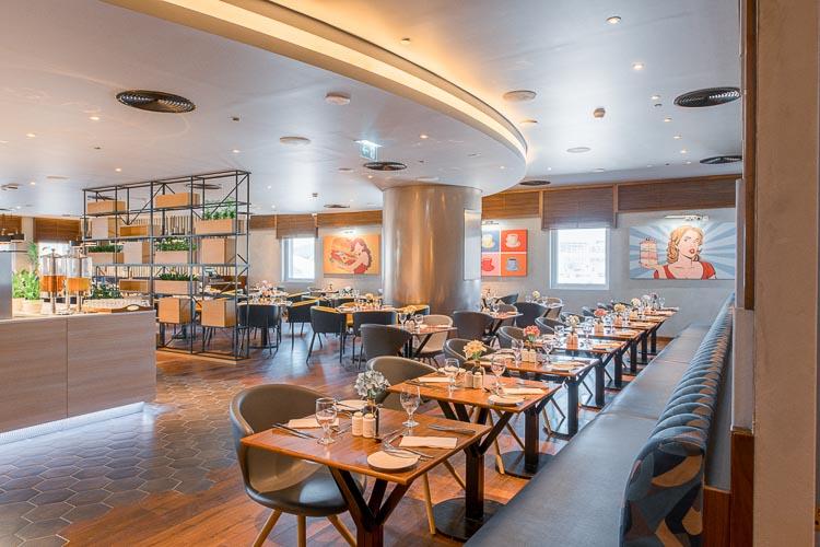Buffet restaurant at budget hotel in Dubai Al Jaddaf