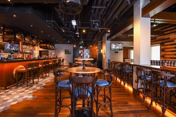 Indoor bar in 3 star hotel in Dubai