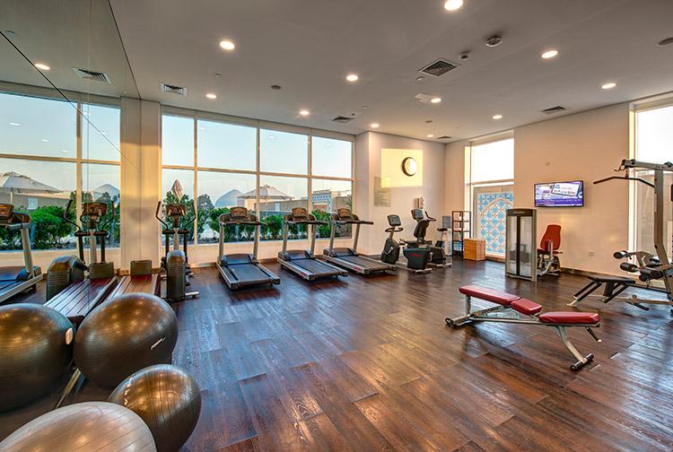 Lareg gym at Premier Inn hotels