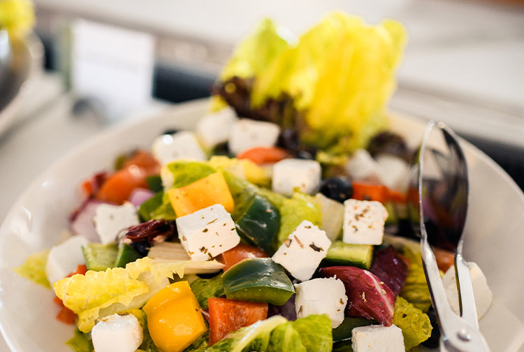 Colourful salad on the buffet at Nuevo restaurant in Premier Inn hotels