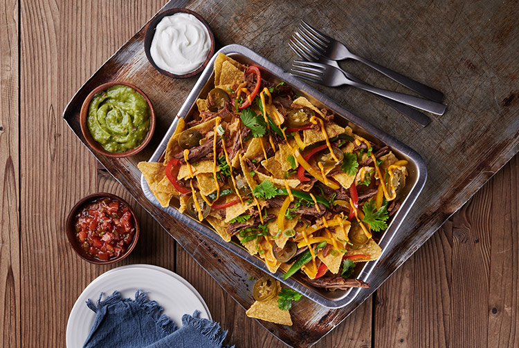 Mexican nachos served in a tray to share at Mr Toad's Pub and Kitchen