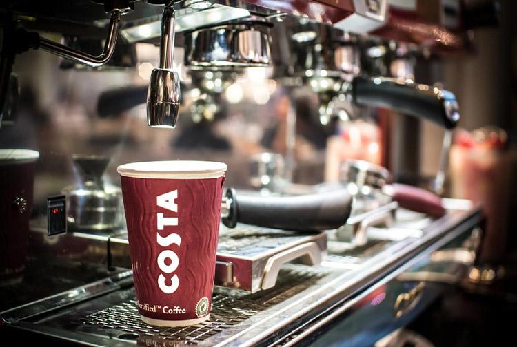 Freshly brewed Costa Coffee to take away at Premier Inn hotels