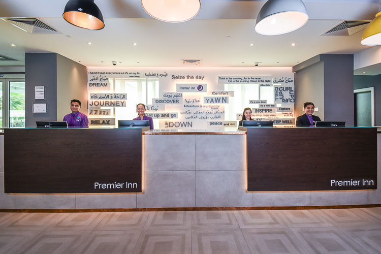 Happy Reception team at Premier Inn Dubai Investments Park hotel