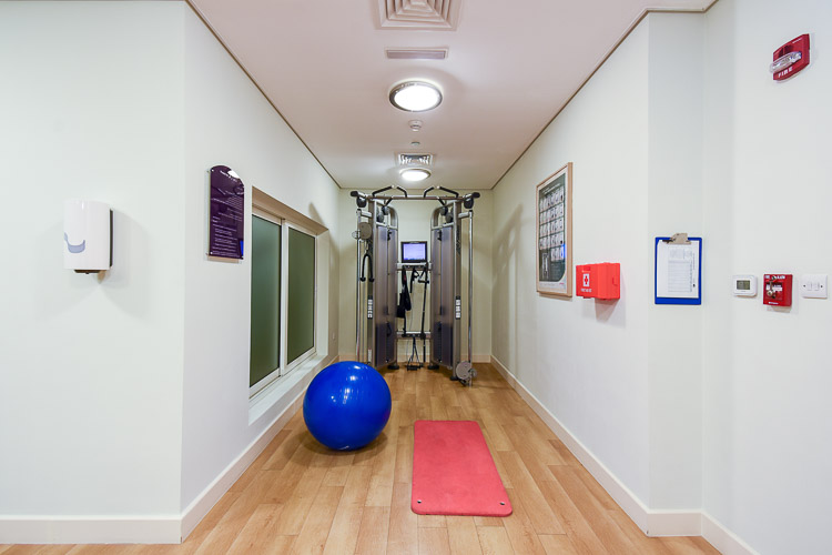 Fitness centre gym for guests at Premier Inn Dubai International Airport hotel