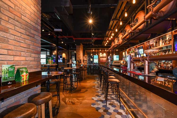 Bar at Mr Toad's Pub and Kitchen inside Premier Inn Dubai International Airprot hotel