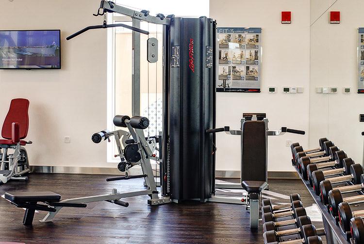 Gym at Premier Inn hotel near Ibn Battuta Mall