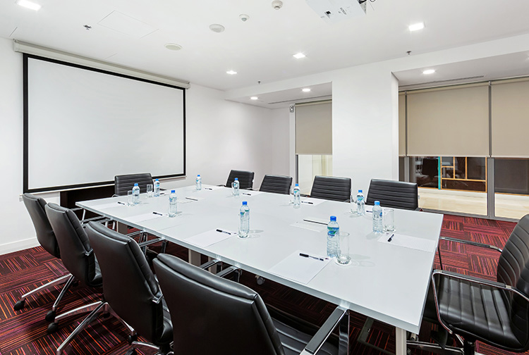 Business meeting room projector near Doha Airport