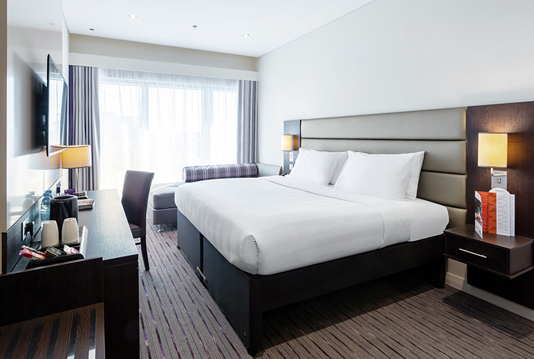 Hotel bedroom near Doha Airport