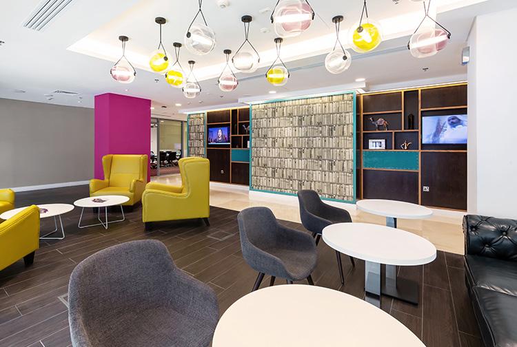 Hotel lobby lounge near Doha Airport