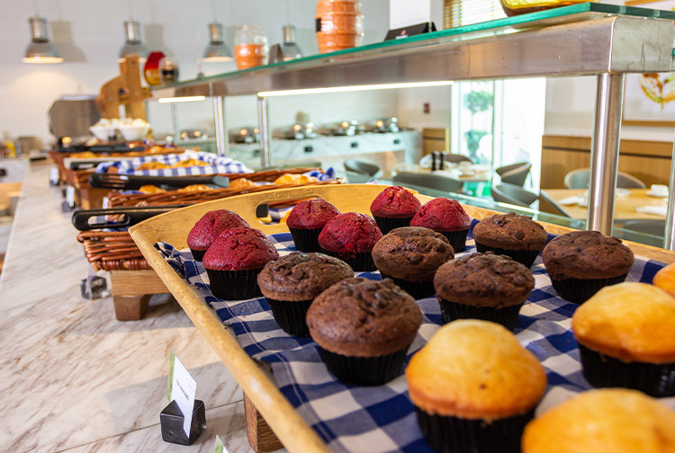 image of a breakfast buffet in dubai investments park hotel