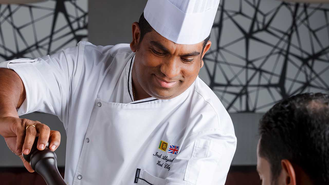 image of a chef at premier inn hotel doha