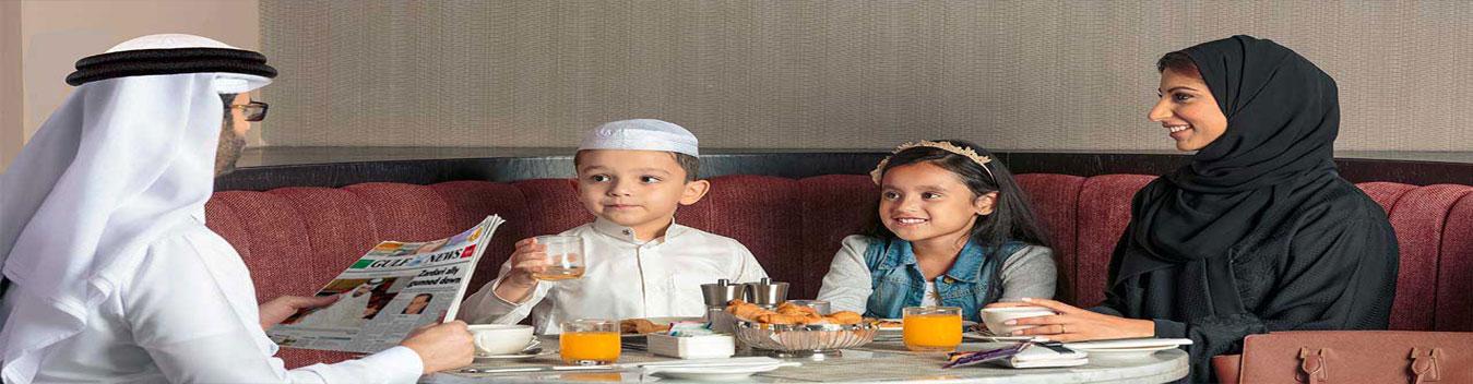image of a family on school break in dubai premier inn
