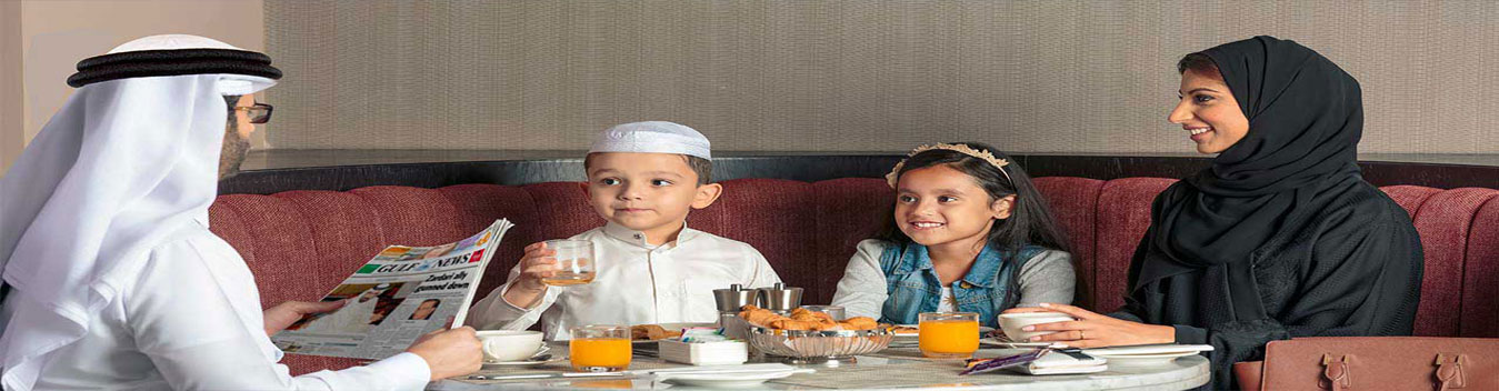 image of a family on school break in dubai premier inn