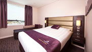 image of double bed room at premier inn doha