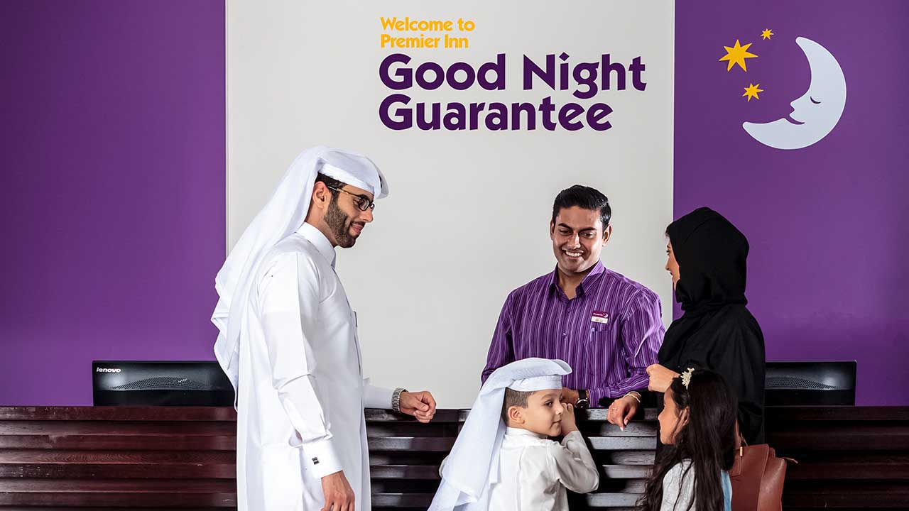 image of family at premier inn doha hotel