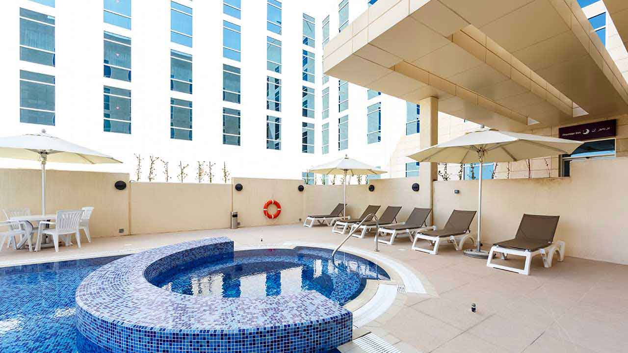 image of jacuzzi at premier inn doha hotel