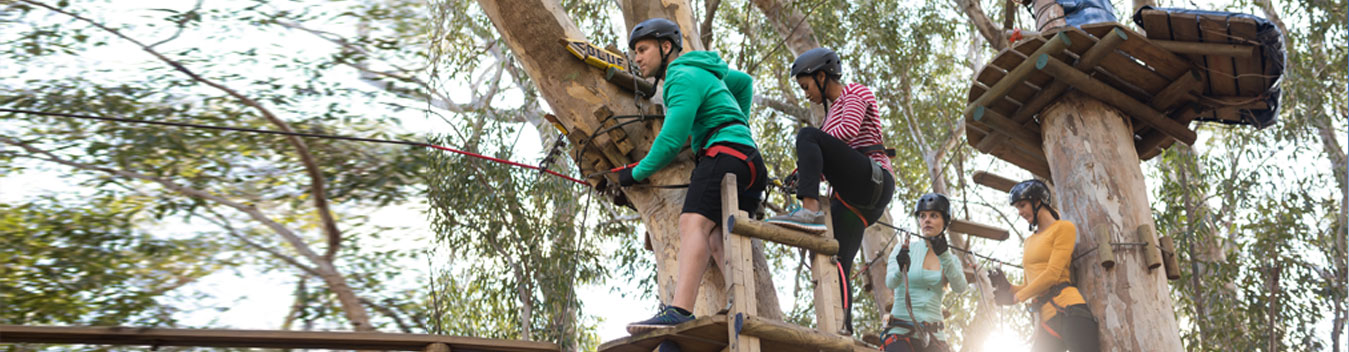 image of zip lining family activitiy in dubai